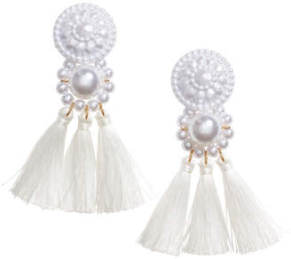 H&M Earrings with Tassels - White