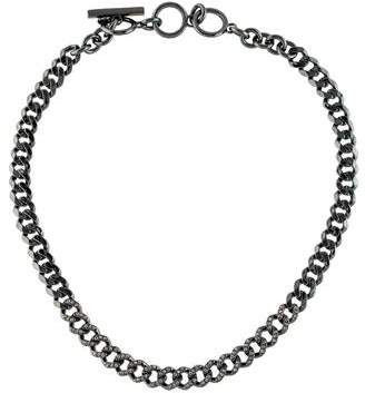 Givenchy Crystal Curb Link Chain Necklace