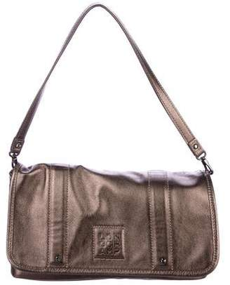 Longchamp Leather Flap Shoulder Bag