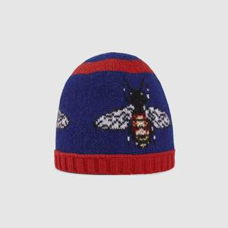Gucci Baby bee jacquard wool hat