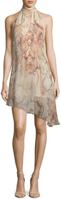 Haute Hippie Morrison Slayer Sleeveless Halter Silk Dress