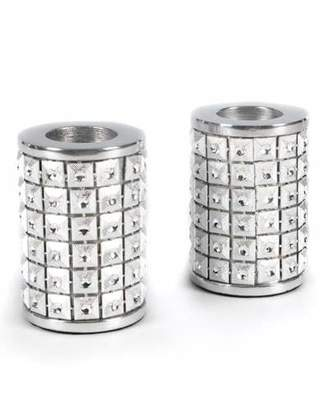 Mackenzie Childs MacKenzie-Childs Studded Silver Candle Holders, Set of 3