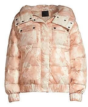 ATM Anthony Thomas Melillo Women's Tie-Dye Puffer Jacket
