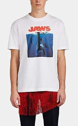"Calvin Klein Men's ""Jaws"" Logo Graphic Cotton T-Shirt - White"