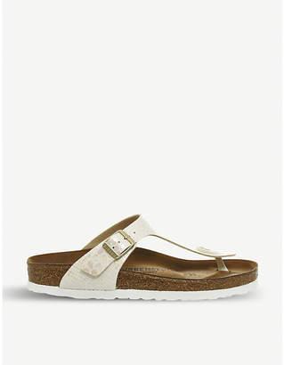 Birkenstock Gizeh open-toe snake-effect sandals