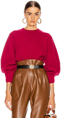 Chloé Balloon Sleeve Sweater in Smoked Red | FWRD