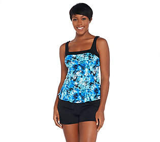 Fit 4 U Square Neck Tankini Swimsuit with Short