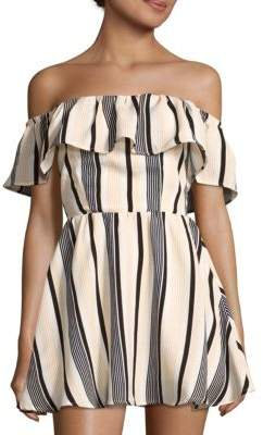 Ruffled Off-The-Shoulder Dress $80 thestylecure.com