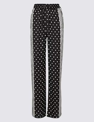 Marks and Spencer Spotted Wide Leg Trousers