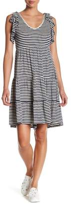 Max Studio Sleeveless Striped Dress