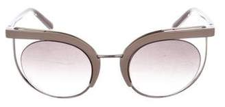 Salvatore Ferragamo Round-Gradient Sunglasses w/ Tags