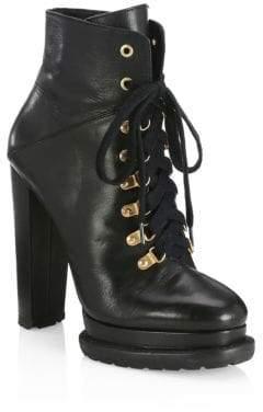 Alice + Olivia Jesna Leather Platform Booties
