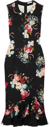 Erdem - Louisa Floral-print Neoprene Dress - Black $895 thestylecure.com