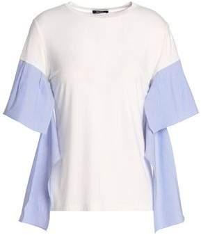 Raoul Striped Poplin-Paneled Jersey T-Shirt