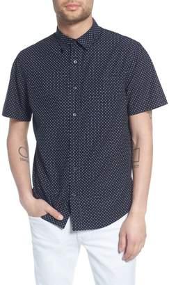 Vince Classic Fit Micro Star Short Sleeve Sport Shirt