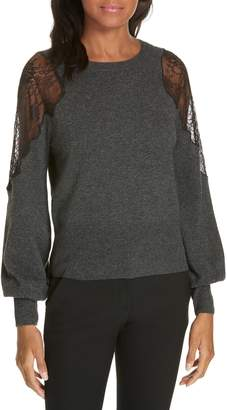 Tanya Taylor Cora Lace Inset Sweater