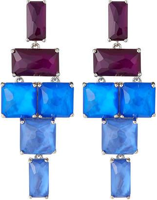 Ippolita Stacked Linear Post Drop Earrings in Luna