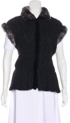 Magaschoni Fur-Trimmed Knit Vest