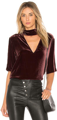Theory Slit Collar V Neck Top