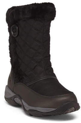 Comfort Quilted Mid Shaft Winter Boots