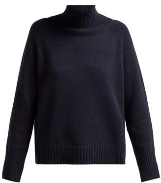 Nili Lotan Roll Neck Cashmere Sweater - Womens - Navy