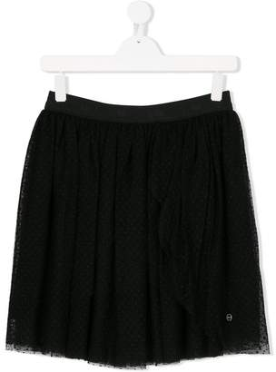 Christian Dior polka dot mesh skirt