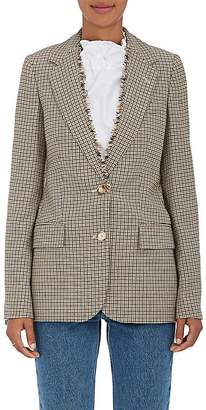 Stella McCartney Women's Houndstooth Wool Two-Button Blazer