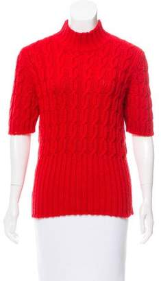 Miu Miu Cable Knit Wool-Blend Sweater