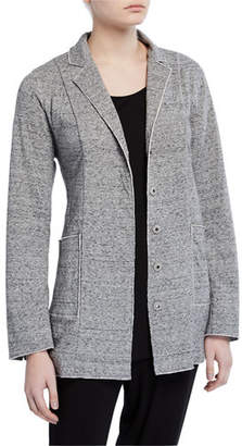 Eileen Fisher Double-Layer Snap-Front Organic Cotton Jacket
