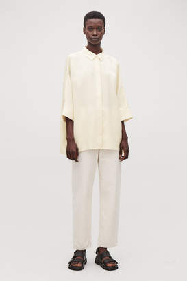 Cos DRAPED WIDE-FIT SHIRT