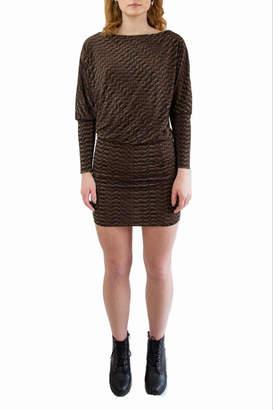 Veronica M Black & Brown Dress