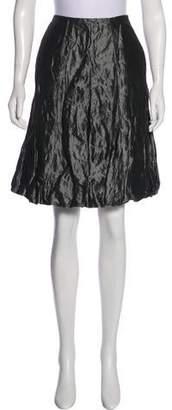 Ralph Lauren Black Label Metallic Knee-Length Skirt