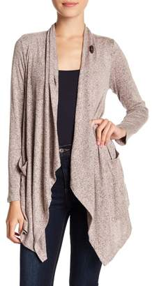 Bobeau One Button Marled Knit Cardigan (Petite)