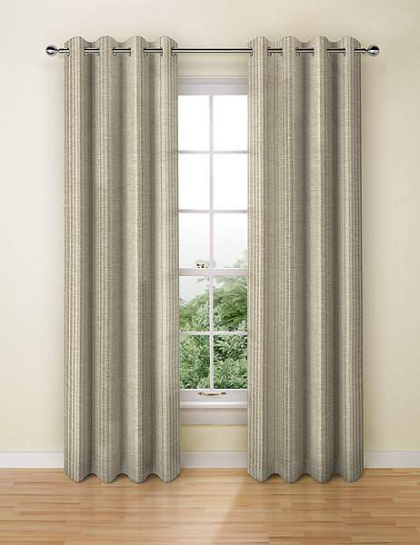 Wide Stripe Eyelet Curtain
