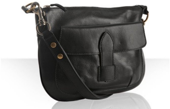 Celine black leather small shoulder bag