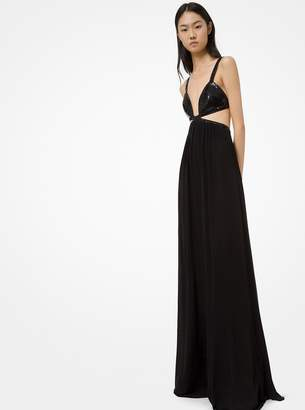 Michael Kors Sequined Viscose Jersey Bikini Gown