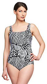 As Is Silver by Gottex Tribal Dance One Piece Swimsuit $28 thestylecure.com