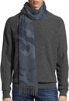 Neiman Marcus Begg & Co Vale Camo Colorblock Scarf