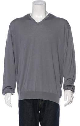 Dalmine Per Bruno Cannes Cashmere V-Neck Sweater w/ Tags
