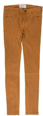 Current/Elliott Lamb Leather Mid-Rise Jeans w/ Tags