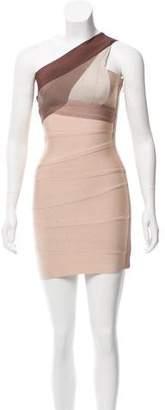 Herve Leger One Shoulder Bandage Dress