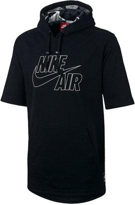 Nike Men's Air Short-Sleeve Hoodie $90 thestylecure.com