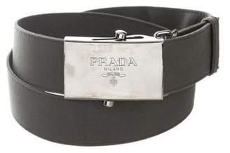 Prada Adjustable Logo Waist Belt