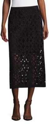 Tibi Cutout Zippered Skirt