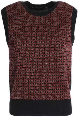 Vanessa Seward Metallic Wool-Blend Jacquard Sweater