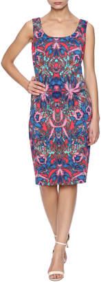 Sangria Sleeveless Printed Dress