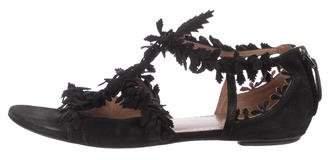 Alaia Suede T-Strap Sandals