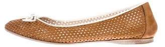 Fendi Laser-Cut Round-Toe Flats