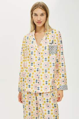 Topshop Key To Freedom Star Print Pyjama Shirt