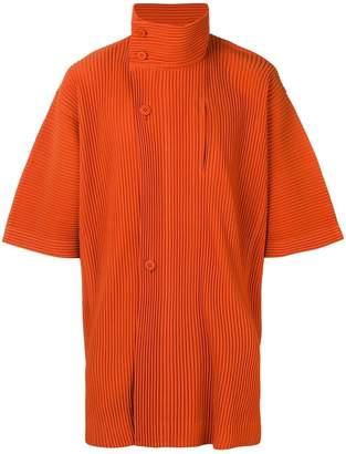 Issey Miyake Homme Plissé shortsleeved pleated jacket